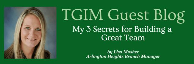 Lisa Mosher Guest Blog